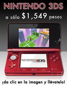 Nintendo 3ds a $1,549 pesos
