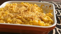 Love mac 'n cheese but not all the fat? Take comfort in our new and improved recipe, using fat-free sour cream and reduced-fat cheese.
