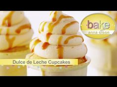 | Reposteria con Anna Olson (Español) Cupcake Cream, Cupcake Cones, No Bake Desserts, Dessert Recipes, Anna Olsen, My Favorite Food, Favorite Recipes, Salsa Dulce, Chocolate Pastry