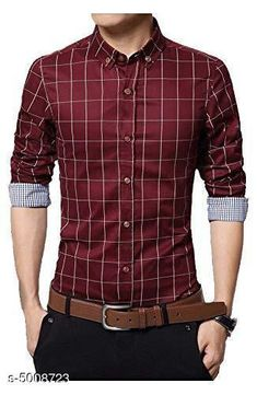 Checkout this latest Shirts Product Name: *New Stylish Men's Shirt * Fabric: Cotton Sleeve Length: Long Sleeves Pattern: Checked Multipack: 1 Sizes: L (Chest Size: 40 in, Length Size: 28.5 in)  Country of Origin: India Easy Returns Available In Case Of Any Issue   Catalog Rating: ★4 (4167)  Catalog Name: New Stylish Men's Shirt CatalogID_735262 C70-SC1206 Code: 624-5008723-2601
