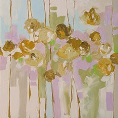 Original Floral Abstract Painting Expressionist by lindamonfort, $255.00