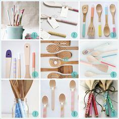DIY: Customiza de forma original tus utensilios de madera | Decorar tu casa es facilisimo.com