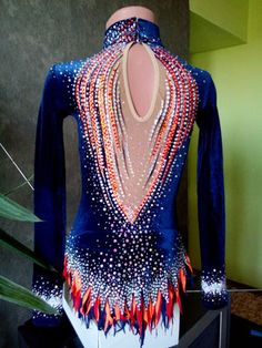 Russian Gymnastics, Gymnastics Leos, Gymnastics Outfits, Gymnastics Pictures, Rhythmic Gymnastics Leotards, Ballroom Dance Dresses, Figure Skating Dresses, Dance Outfits, Dance Costumes