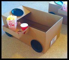 Drive -in-movie Kit, movie night, movie night party,box cars, snack trays… Backyard Movie Night Party, Outdoor Movie Nights, Party Box, Family Movie Night, Family Movies, Family Cars, Movie Night With Kids, Drive In, Movie Drive