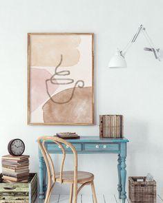 Abstract Wall Art, Abstract Print, Gold Wall Decor, Neutral Walls, Wall Art Sets, Artwork Prints, Printable Wall Art, Boho Decor, Watercolor Art