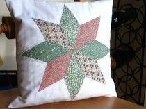 Star pieced patchwork cushion