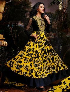 Semi Stitched Designer Anarkali Suit