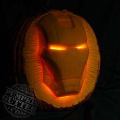 Iron Man Pumpkin Carving made by Scott Cummins