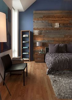 Contemporary Master Bedroom - Find more amazing designs on Zillow Digs! Love the blue wall