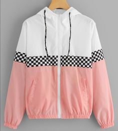 Shop Colorblock Plaid Panel Zip Up Hooded Jacket online. ROMWE offers Colorblock Plaid Panel Zip Up Hooded Jacket & more to fit your fashionable needs. Teen Fashion Outfits, Swag Outfits, Retro Outfits, Trendy Outfits, Parisian Fashion, Bohemian Fashion, Fashion Styles, Fashion Clothes, Fashion Fashion