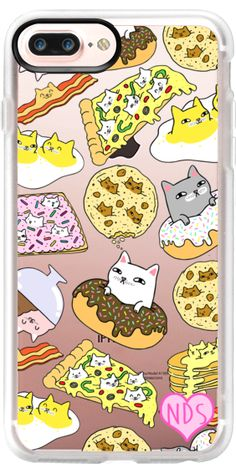 Casetify iPhone 7 Plus Case and other Cats iPhone Covers - Cats In Food by Natelle Draws Stuff | Casetify
