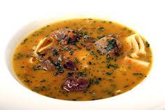 Husí kaldoun s játrovými knedlíčky Restaurant Guide, Cheeseburger Chowder, Hummus, Soup, Ethnic Recipes, Soups