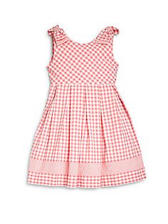 Luli and Me Toddler Girl's Check Seersucker Dress