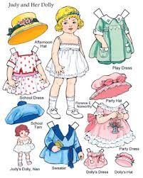 Afbeeldingsresultaat voor 20's vintage paper dolls