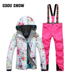 948a8355f9 GSOU SNOW Double Single Board Women s Ski Suit Winter Thickening Warm  Waterproof Windproof Breathable Ski Jacket Ski Trousers. Yesterday s price   US  178.99 ...