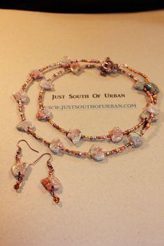 Zuni Bear Fetish Tribal Autumn Jasper Necklace by JustSouthOfUrban, $24.50