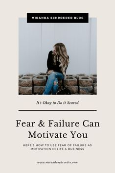 Fear of failure can stand in your way. It can freeze you. Stop you in your tracks. Prevent you from diving into a crazy dream OR it can make you stand up, like the bad ass woman you are, look at a big, hairy audacious goal straight in the eye, and get to work. | Blogging | Entrepreneurship | Life | Fear | Failure | Motivation |