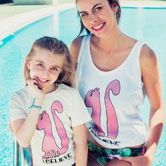 Camiseta yosiquesera para mujer y niñ@ - i believe #yosíquesé #camisetaconestilo #ardilla #ibelieve #diseñosconalma #camisetaconmensaje #algodónorgánico #colecciónveranitofresquito #madreehijaiguales #modaverano2016