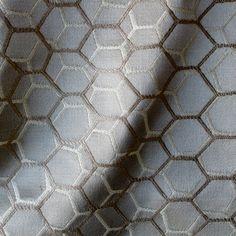 Lattice in Earth | Laura Lienhard Textiles #fabric #cotton #blue #brown