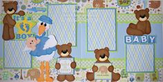 Baby Boy Scrapbook Layouts | BLJ Graves Studio: Baby Boy Scrapbook Pages