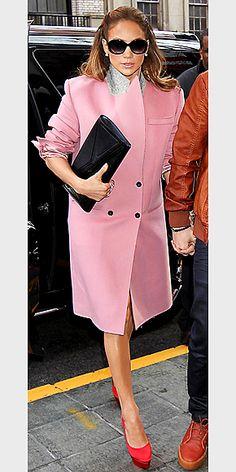 Jennifer Lopez pink+red