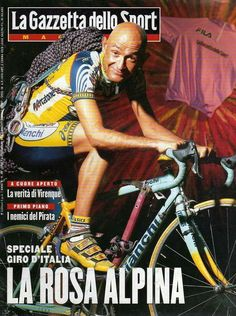 Marco in einer Zeitschrift . E Sport, Bicycle Race, Cycling Art, Road Racing, Courses, Road Bike, Champs, Baseball Cards, Legends