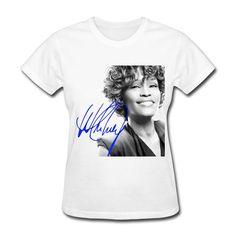 QDYJM Women's The Voice Whitney Houston Signature Logo T-shirt - XXL White