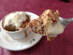 coconut cinnamon protein bread pudding (with angelamccfrey's bread)