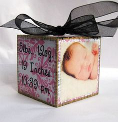Personalized Photo Block Baby's First by SaidInStoneOnline on Etsy, $16.50