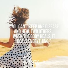 """You can't keep one disease and heal two others… When the body heals, it heals everything."" - Charlotte Gerson from Food Matters  www.FMTV.com"