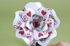 Queen of Hearts Poker Card Flower- Inspiration