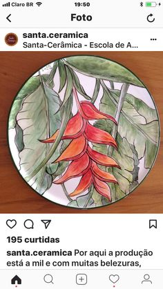 Abril Hand Painted Plates, Hand Painted Ceramics, Plates On Wall, Pottery Plates, Ceramic Plates, Ceramic Pottery, Pottery Painting, Ceramic Painting, Ceramic Art