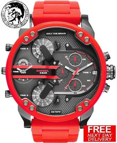100% NEW DIESEL DZ7370 57MM MR.DADDY MEN'S RED MULTIPLE TIME CHRONOGRAPH WATCH | Jewellery & Watches, Watches, Parts & Accessories, Wristwatches | eBay!