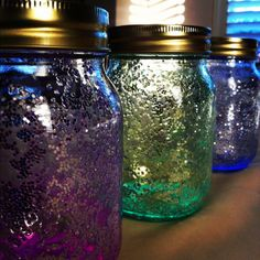 Glitter up the inside and throw in a glowstick? ...Mason jar glow sticks