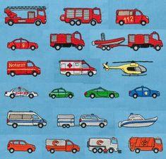 Feuerwehr Polizei Autos Stickdateien auf www.gabrielles-embroidery.com