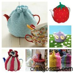 tea cozy knitting patterns that are perfect for spring.