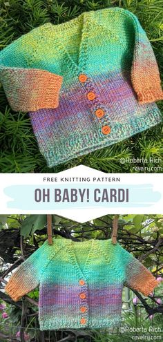 Colorful Classic Baby Cardis Free Knitting Patterns
