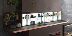 Küche mit Kücheninsel ohne Griffe GENIUS LOCI | Küche mit Kücheninsel - VALCUCINE