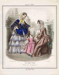 Le Bon Ton April 1854 LAPL
