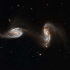 Galactic collision: billions of stars colliding and cannibalizing to form new stars and galaxy [via #Hubble]
