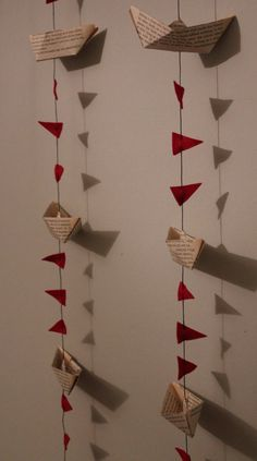 Lovely little sailing boats garland bunting by charliedeighton, $14.00