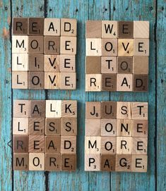 Scrabble Letter Crafts, Scrabble Coasters, Scrabble Ornaments, Scrabble Tile Wall Art, Tile Coasters, Scrabble Pieces Crafts, Scrabble Frame, Bubble, 1 Live