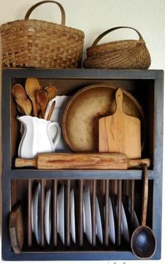 everything I love, vintage, bread boards, baskets and ironstone