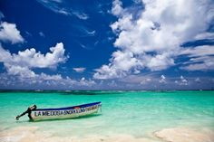 Interesting Facts About Dominican Republic: Taxi boat at the Punta Cana Beach