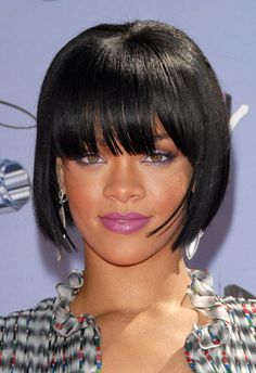 The bob is a great classic cut that has been around for decades now, but it is making a strong comeback this year by leaps and bounds. Rihanna is a perfect example of a woman who can rock a beautiful black bob. The elegance it brings to her features and the way it accentuates her jaw line makes this a perfect haircut for any one who wants to feel classy without having to commit hours of their day into styling it.