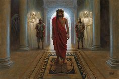 """""""AWAITING THE COMMAND""""  Jon McNaughton  """"Do you think I cannot call on my Father, and He will at once put at my disposal more than twelve legions of angels?"""" (Matthew 26:53)"""