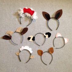 7 corral granja animales tema orejas diadema por Partyears en Etsy