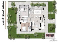 Duplex Floor Plans, Bungalow Floor Plans, House Layout Plans, House Layouts, Architecture Plan, Interior Architecture, Small Villa, Villa Plan, Architectural House Plans
