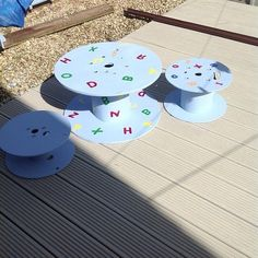One members reuse of old cable reels