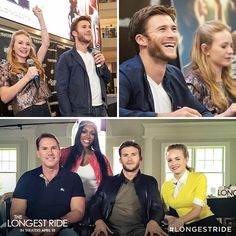 See highlights from Scott Eastwood, Britt Robertson and Nicholas Sparks on The Longest Ride tour. Scott Eastwood, Logan Lerman, The Longest Ride Movie, Clint Eastwoods Son, Nicholas Sparks Movies, Britt Robertson, Hot Cowboys, Power Couples, Cowboys